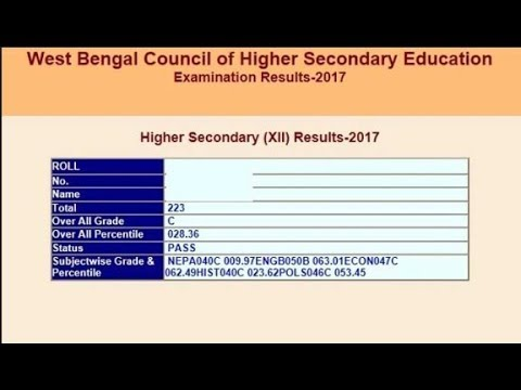 WBCHSE HS Result 2018 LIVE Updates: WB Class 12th Result