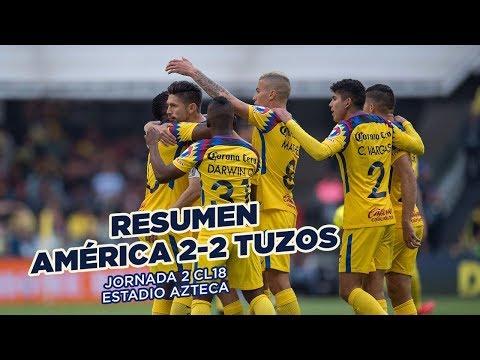 RESUMEN: Club América 2-2 Pachuca | Todos los goles de la J2 #CL18 Liga MX