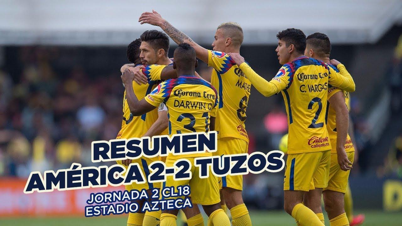 fcf3d4f2c39 RESUMEN: Club América 2-2 Pachuca | Todos los goles de la J2 #CL18 Liga MX