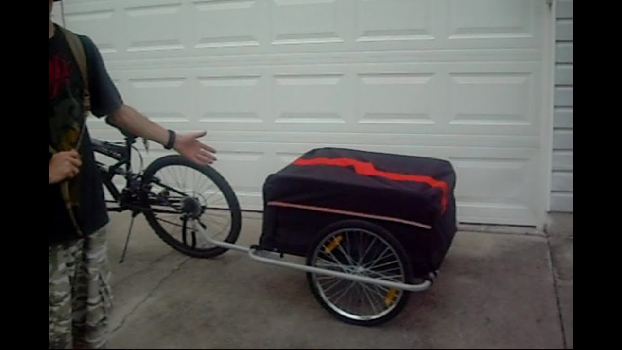 aosom elite bike trailer manual