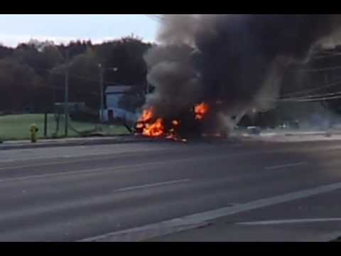 Oshawa Ambulance Accident Secondary Explosion 10/29/2011