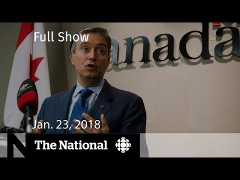 The National for January 23, 2018 - Trade Deal, Tsunami Warn