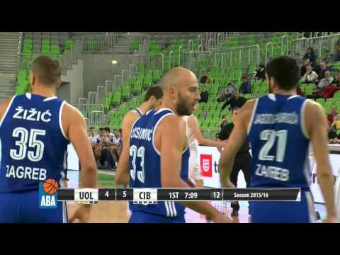 ABA Liga 2015/16, Round 17 match: Union Olimpija - Cibona (30.12.2015)