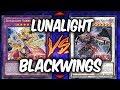 Yugioh! NEW LUNALIGHTS! LUNALIGHTS VS BLACKWINGS!