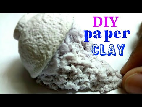 """"""" DIY paper Clay """" how to make Clay ABS"""
