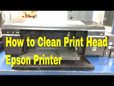 How to Clean Print Head Epson L800 Printer - How to Fix