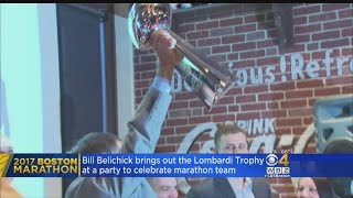 Belichick Brings Out Lombardi Trophy At Marathon Team Event