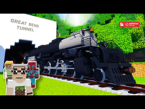 🚂🚂 Ride Through The John Henry Tunnel Where He Beat The Steam Drill! Minecraft Train Rides!