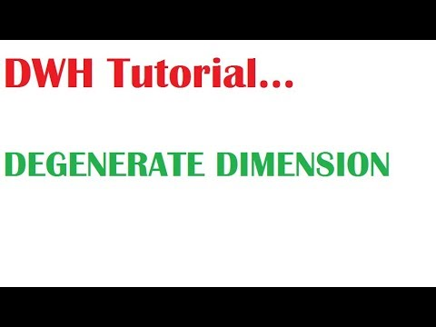 What Is  Degenerate Dimension in Dimensional Modeling