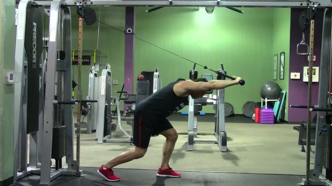 Bent Over Rope Triceps Extension - HASfit Triceps Exercise ...