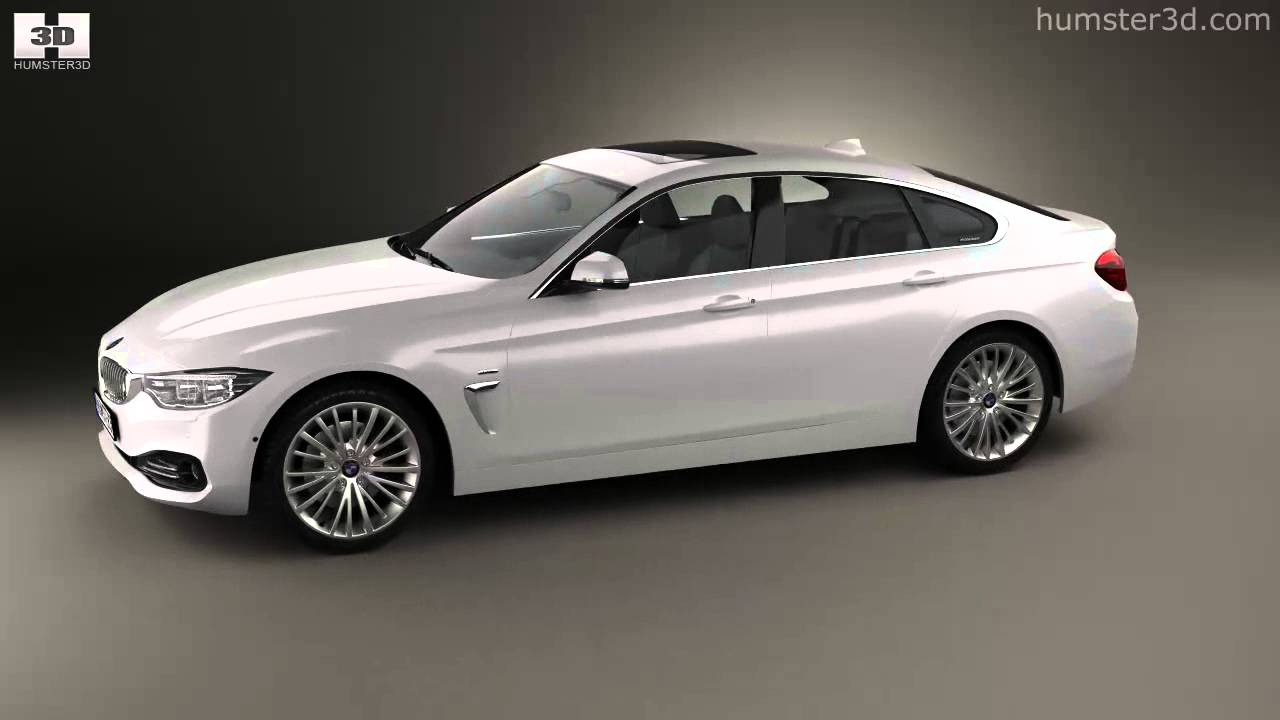bmw 4 series f36 gran coupe luxury line 2013 by 3d model store youtube. Black Bedroom Furniture Sets. Home Design Ideas