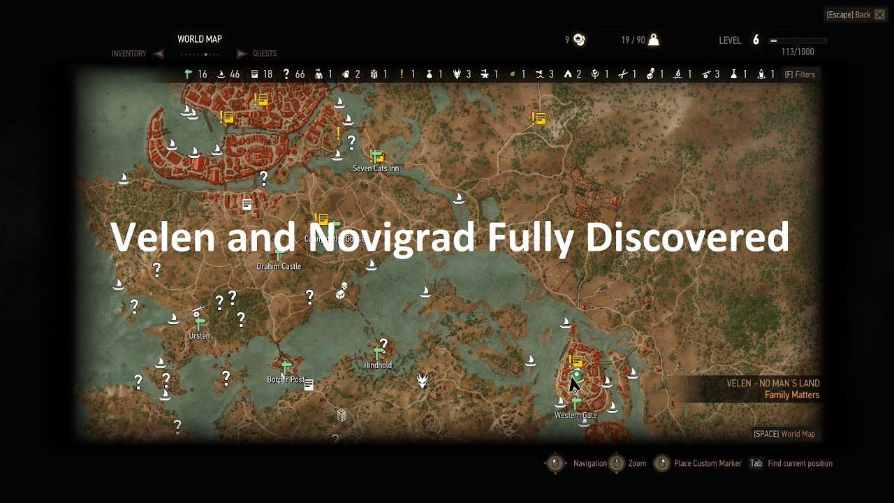 Witcher 3 Velen Karte.Witcher 3 Fully Discovered Velen And Novigrad