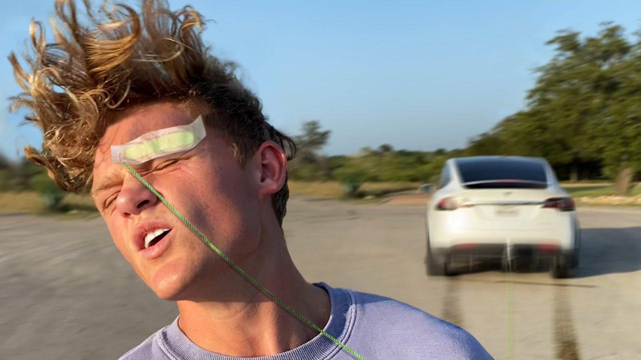Waxing Off Eyebrows With Tesla Ludicrous Mode