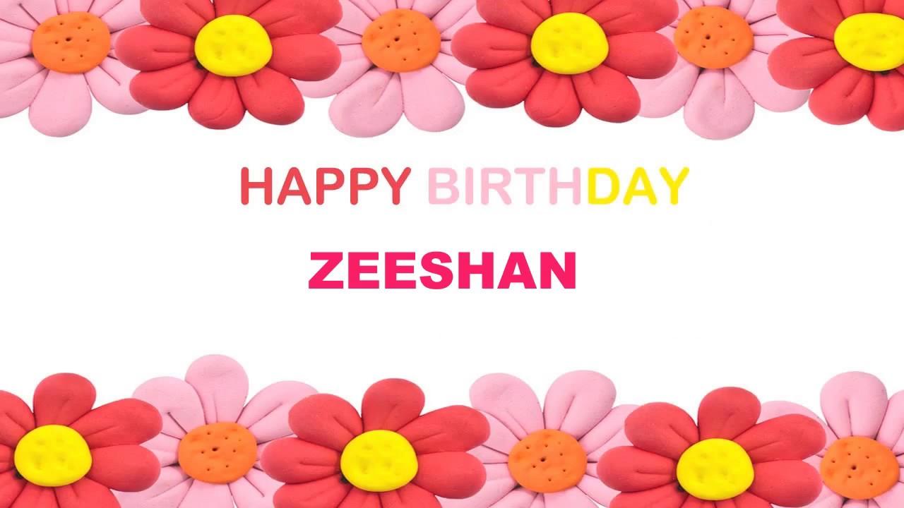 Zeeshan Birthday Postcards Postales Happy Birthday Youtube