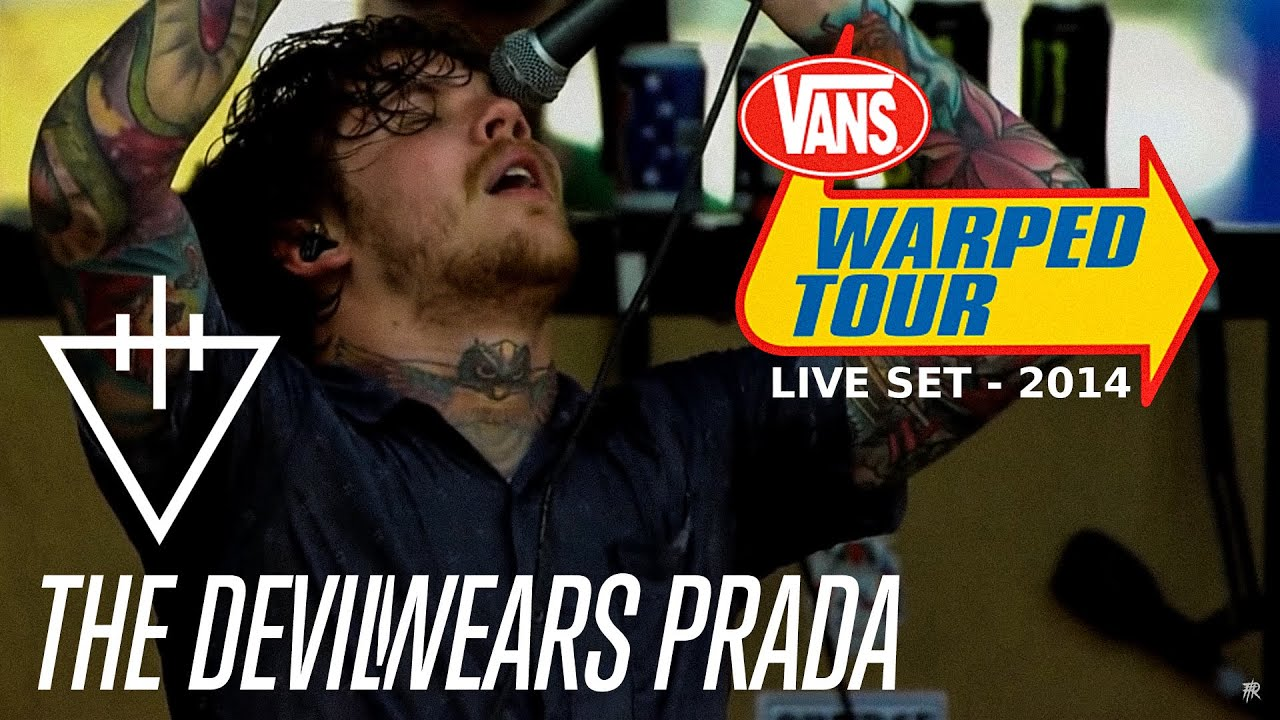 the devil wears prada warped tour 2014 full set youtube