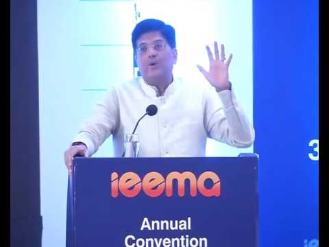 Addressing Annual Convention of Indian Electrical & Electronic Manufacturers Association (IEEMA)