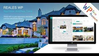 Reales WP Wordpress Theme Review & Demo   Real Estate WordPress Theme   Reales WP Price & How to Install