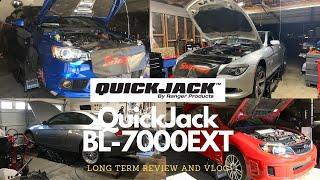 Quickjack BL-7000EXT Long Term Review and Vlog (Evo X FE, WRX STI, N54 335i, BMW 650i, Prius)