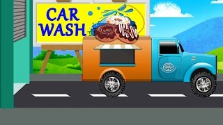 truck | car wash | donut trucks | videos for kids and toddlers