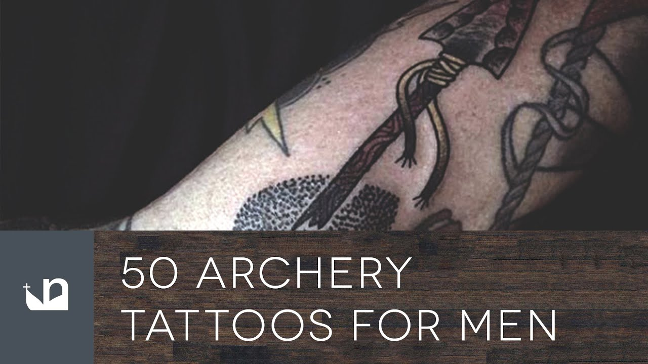 50 archery tattoos for men youtube for Archery tattoo pictures