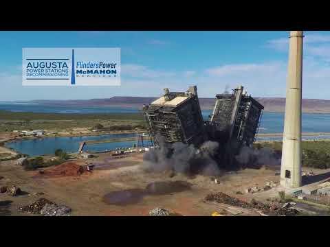Northern Power Station Boiler Demolition 1
