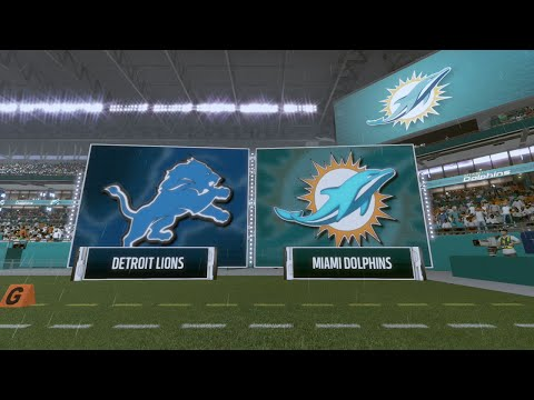 14460f3d Madden NFL 17 - Detroit Lions vs Miami Dolphins (FULL GAME) - YouTube