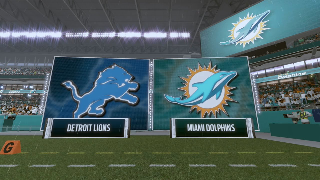 73c14a85 Madden NFL 17 - Detroit Lions vs Miami Dolphins (FULL GAME)