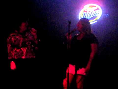 Sue & Shelley singing karaoke