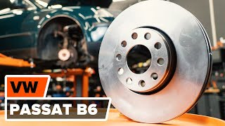 Reemplazar Pastilla de freno VW PASSAT: manual de taller