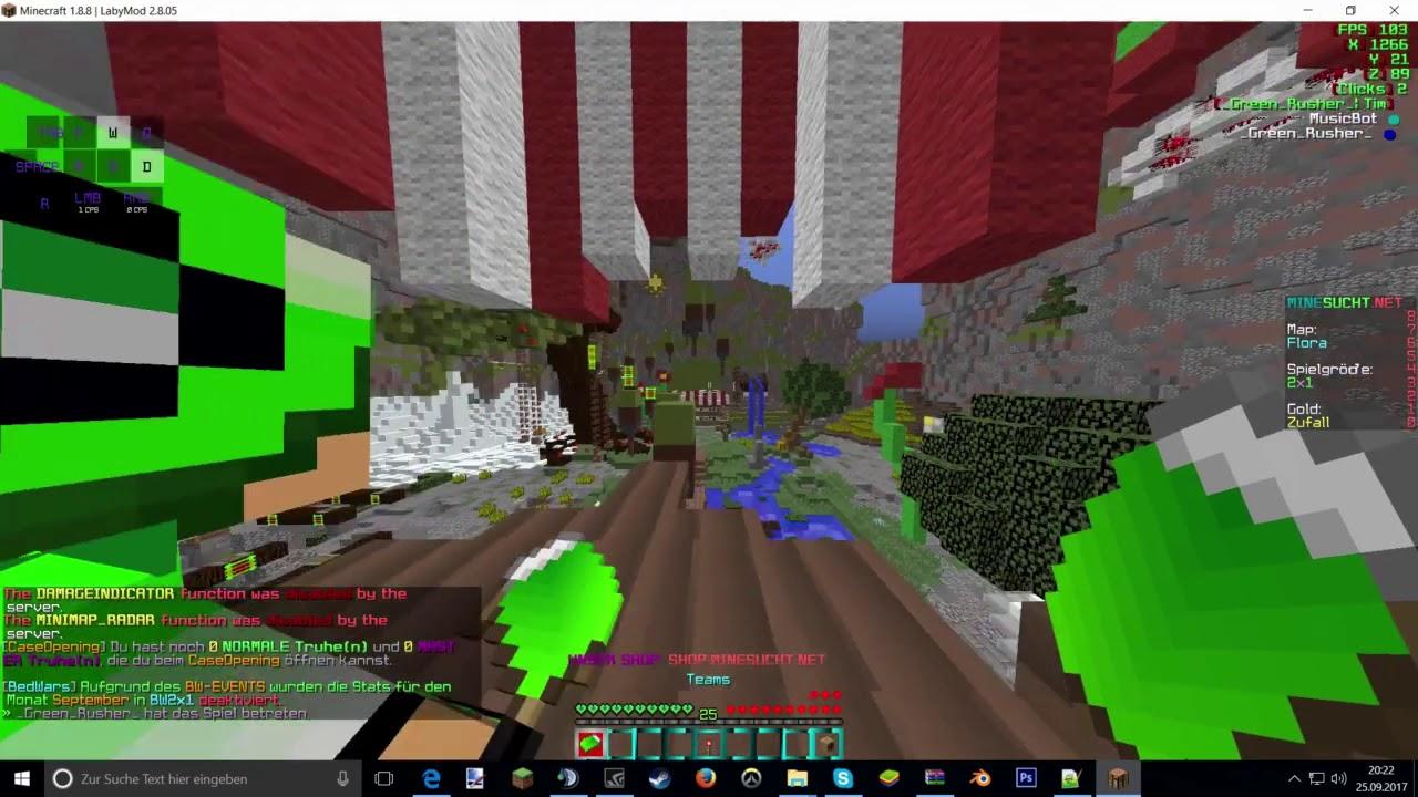 Minecraft I Bedwars Auf Minesucht V Ohne Stimme YouTube - Maps fur minecraft 1 8 8