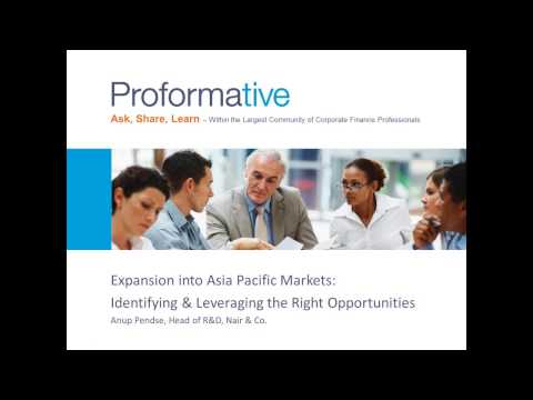Expansion into Asia Pacific Markets  Identifying   Leveraging the Right Opportuniti