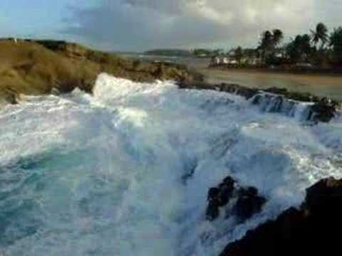 Hit By Break Water In Vega Baja Puerto Rico Youtube
