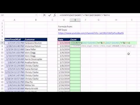 Excel Magic Trick 1166: Count Dates From Date-Time Values: COUNTIFS or PivotTable?