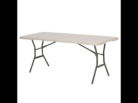 4567 6 Foot Light Commercial Fold In Half Table (almond)