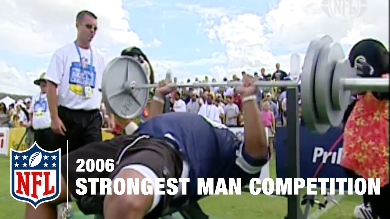 Strongest Man Competition 2006 Nfl Pro Bowl Skills Challenge Youtube