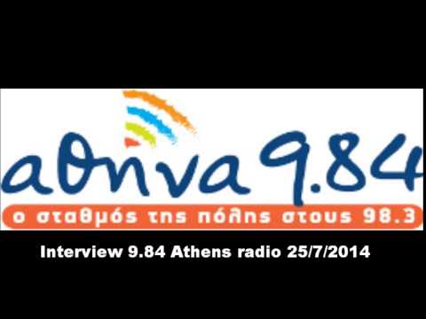 Interview on Athens radio 9.84