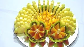 DELICIOUS SLICE FRUIT CENTER, HOW TO MAKE - By J.Pereira Art Carving Fruits and Vegetables