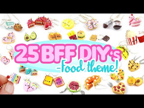 25 BFF -FOOD themed- DIY's! - BIG Polymer Clay Compilation!