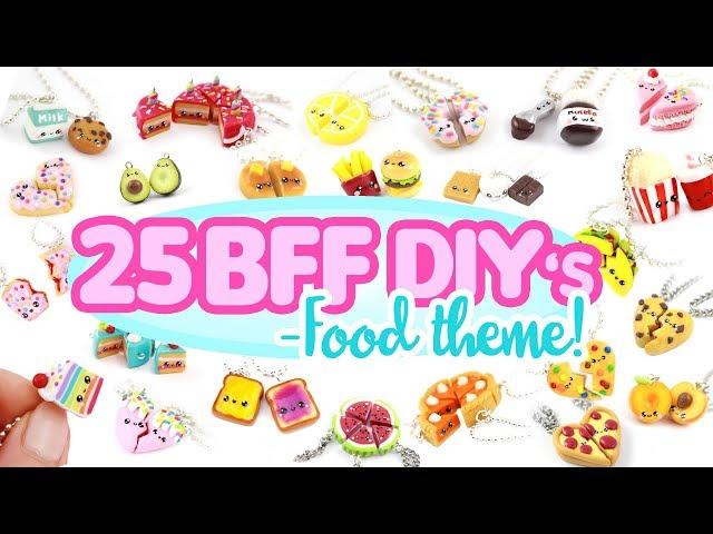 25 BFF -FOOD themed- DIY's! - BIG Polymer Clay Compilation!