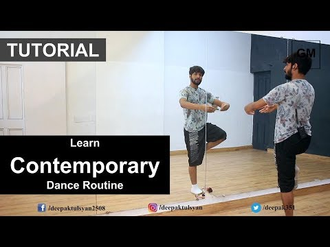 "Learn ""Contemporary"" Dance routine from Deepak Tulsyan | Dance Tutorial | Hindi"