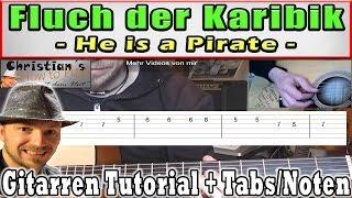 ★FLUCH DER KARIBIK Melodie | Gitarren Tutorial Teil 1/2 +TABS Video Lesson [Deutsch]★