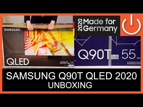 UNBOXING - SAMSUNG Q90T QLED Serie 2020