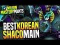 BEST SHACO KOREA IS BACK! - Korean Master Shaco Main With +1MILION Mastery Points | Korean OTP Shaco