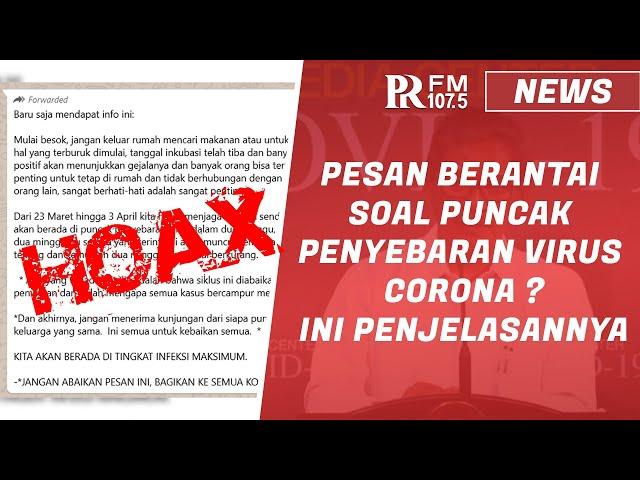 [HOAX] Pesan Berantai tentang Puncak Penyebaran Corona