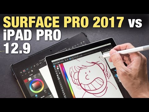 iPad Pro 12 9 vs Surface Pro 2017 (Artist Comparison) - YouTube