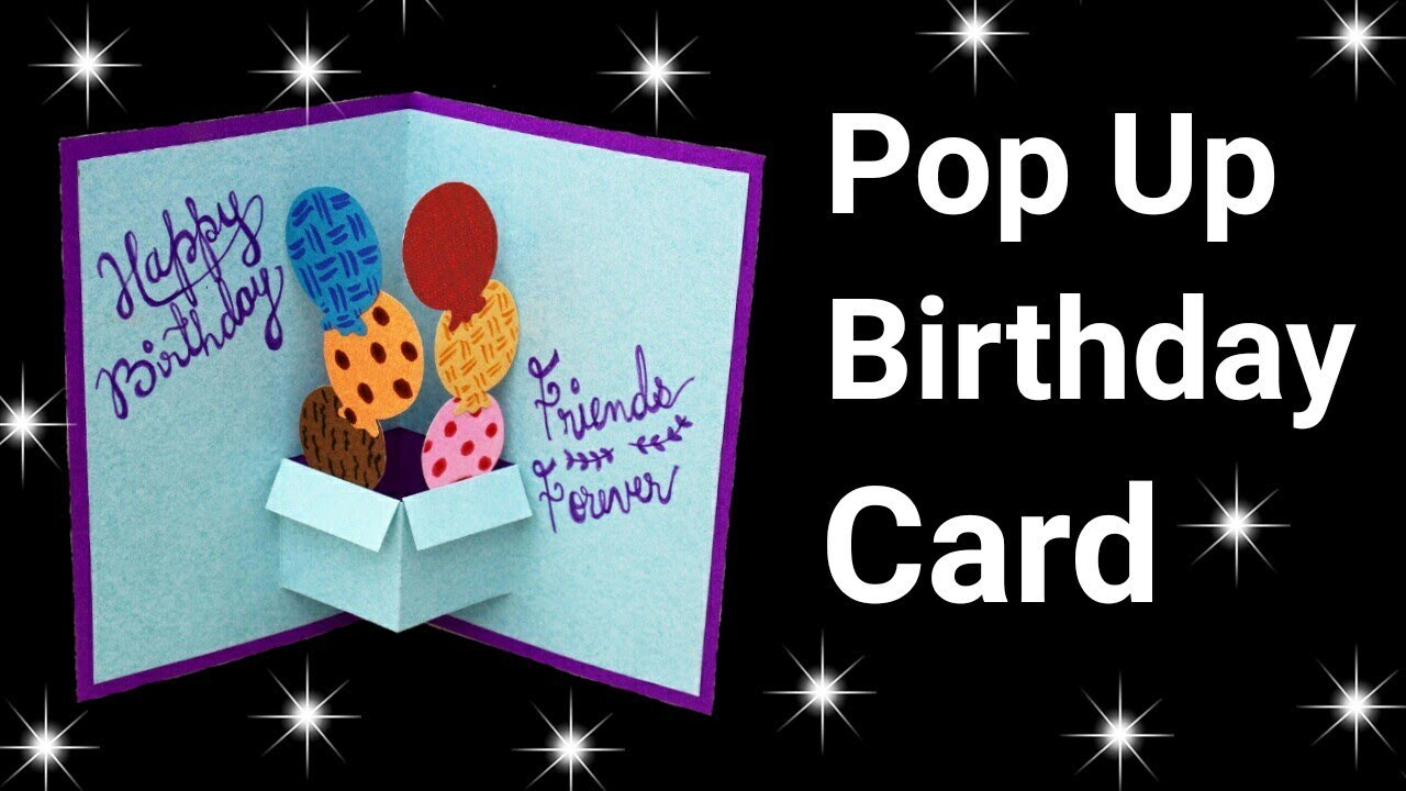 Easy Pop Up Birthday Card for Beginners | Pop Up Birthday Card | Friendship Day Card |