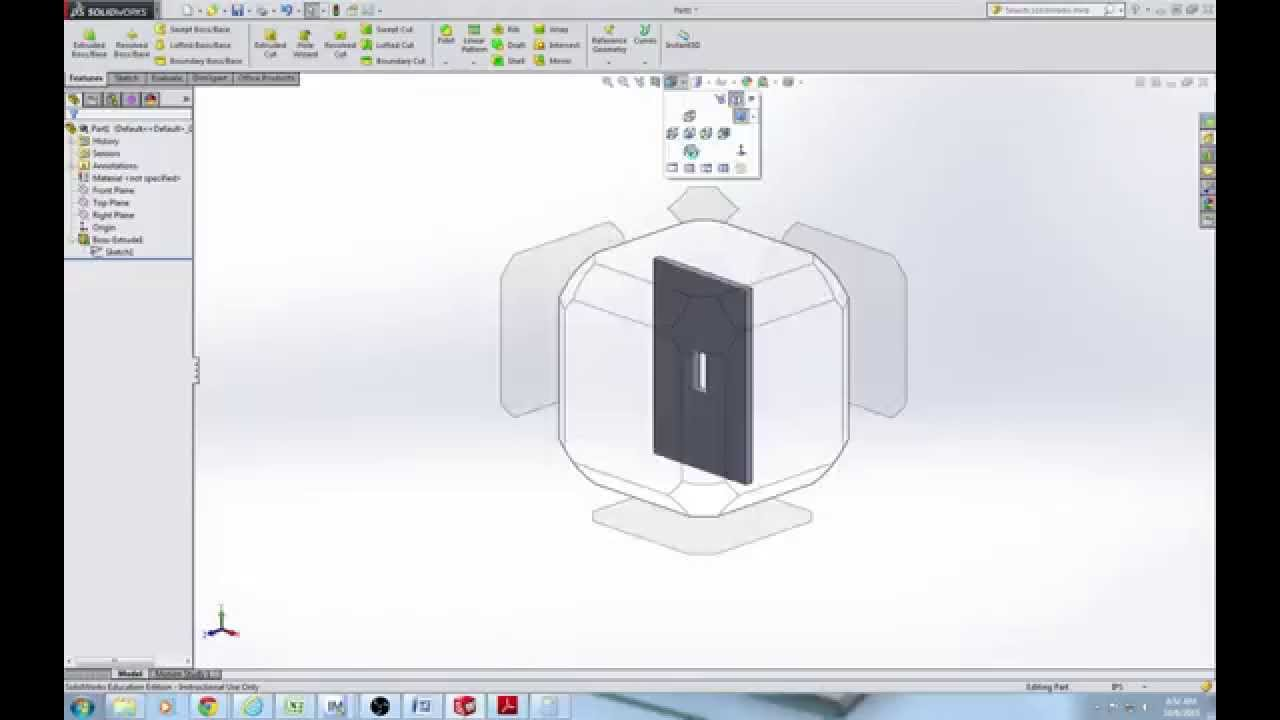 How to Draw a Switch Plate in SolidWorks - YouTube