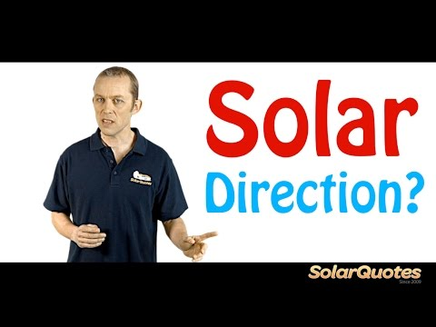 What direction should your solar panels face?