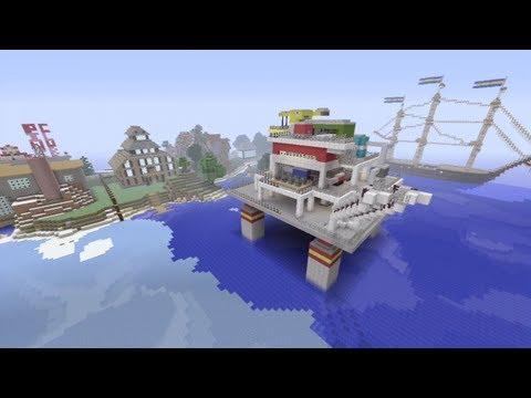 Minecraft Xbox - Oil Rig - SPANKLECHANK's World Tour - Part 12