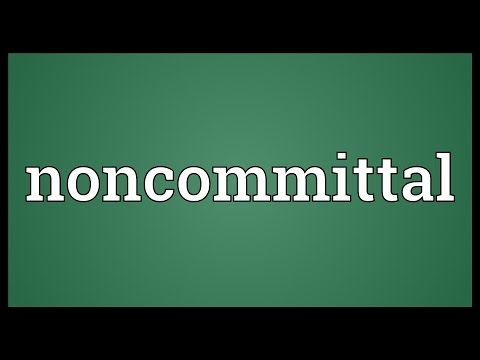 Header of noncommittal
